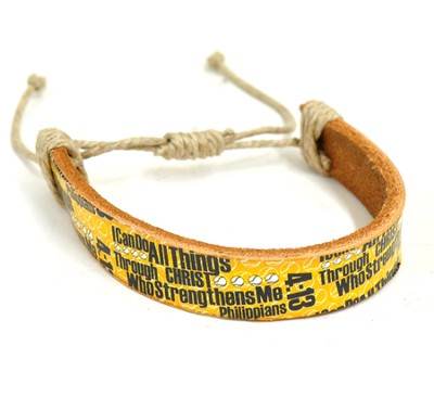I Can Do All Things Baseball Bracelet  -