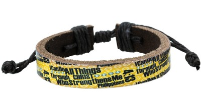 I Can Do All Things Football Bracelet  -
