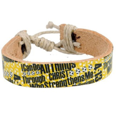 I Can Do All Things Soccer Bracelet  -