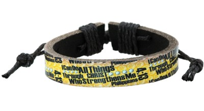I Can Do All Things Basketball Bracelet  -