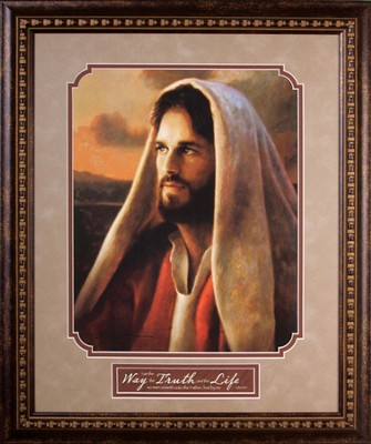 Prince of Peace, Image of Jesus, Framed   -     By: Greg Olsen
