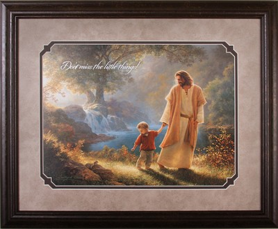 Little Things, Framed Image of Jesus   -     By: Greg Olsen