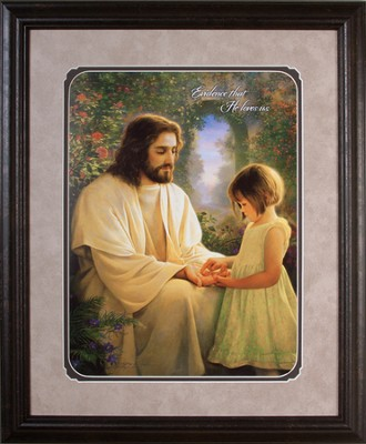 Savior's Love, Image of Jesus, Framed   -