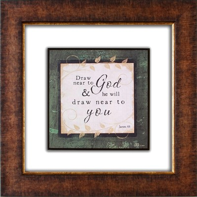 Draw Near to God Framed Print  -