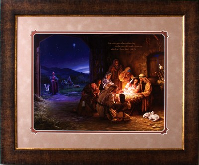 For Unto You is Born This Day Framed Print  -