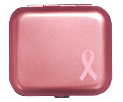 Pill Box Pink Ribbon  -