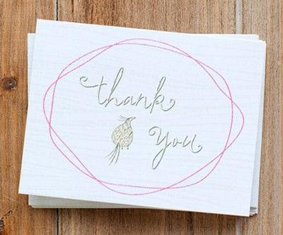 Faith Floral Thank You Notes, Pack of 10  -