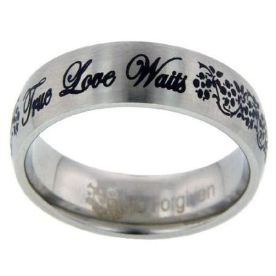 True Love Waits Ring, Flowers, Size 9   -