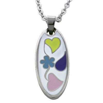 Flowers and Heart Pendant  -