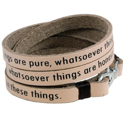 Whatsoever Things Wrap Bracelet  -