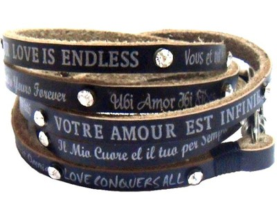 Love Sayings Wrap Bracelet  -