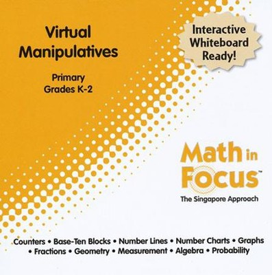 Math in Focus: The Singapore Approach Primary Virtual Manipulatives CD-Rom (Grades K-2)  -