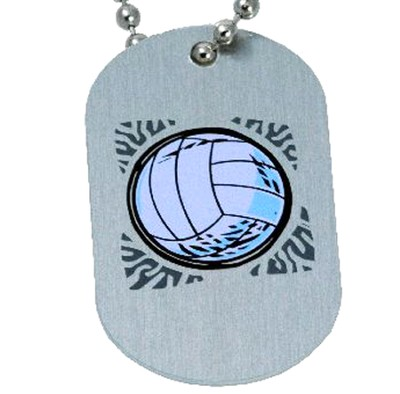 Volleyball Tag Pendant  -