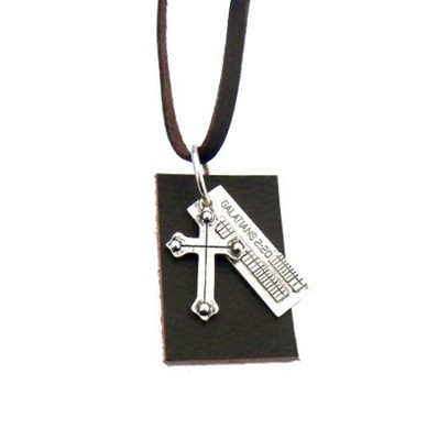 Galations 2 20 Cross Pendant  -