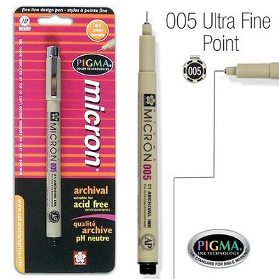 PIGMA Micron 005, Ultra Fine Bible Note Pen, Black (Blister Pack)   -