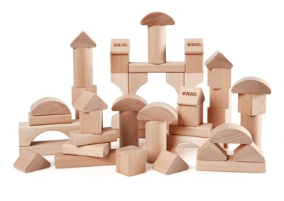 50 Piece Natural Colored Block Set  -