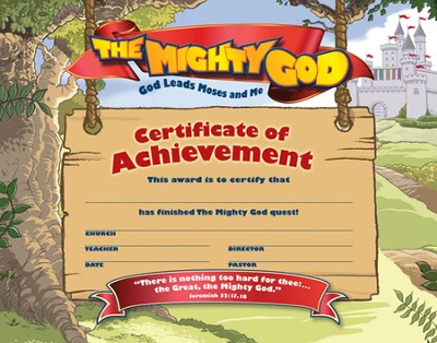 Achievement Certificates, pack of 25   -
