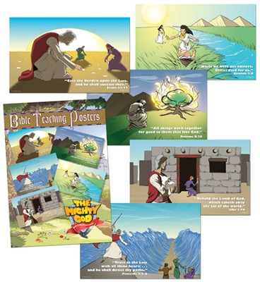 Bible Teaching Posters, package of 5  -