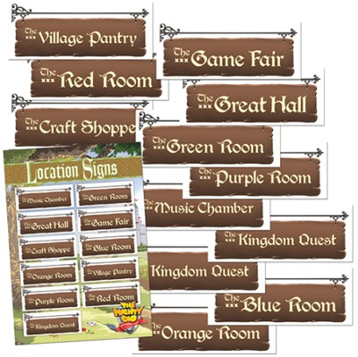 Location Signs, package of 12  -