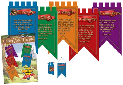 Memory Verse Pennants, package of 5  -