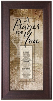 A Prayer For You Framed Art  -