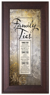 Family Ties Framed Art  -