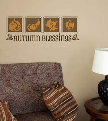 Vinyl Wall Expression, Autumn Blessings  -