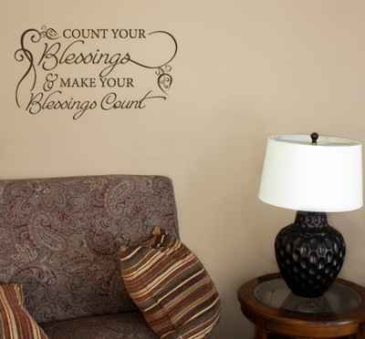 Vinyl Wall Expression, Count Your Blessings  -
