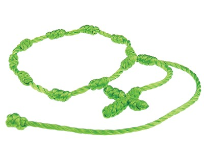 Prayer Bracelet, Cord, Green  -