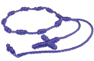 Prayer Bracelet, Cord, Dark Purple  -
