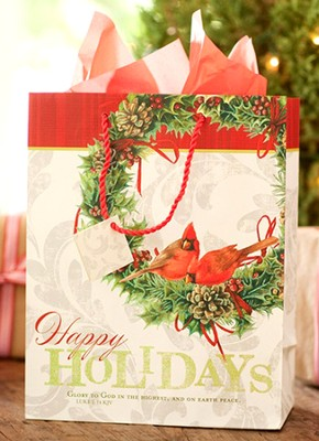Happy Holidays Gift Bag, Large  -     By: Marjolein Bastin
