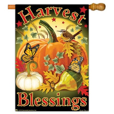 Harvest Blessings Flag, Large   -