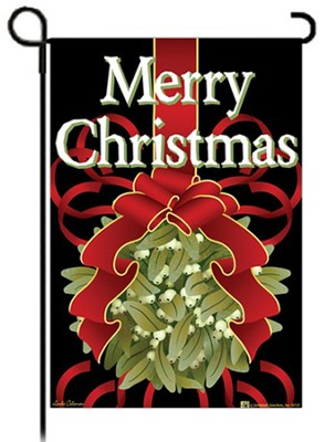 Merry Christmas Kissing Ball Flag, Garden Size   -