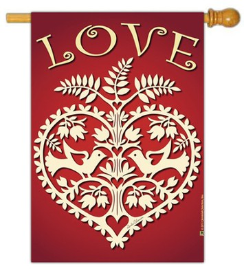 Hearts of Love Flag, Large  -