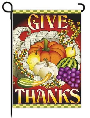 Give Thanks Cornucopia Flag, Small  -     By: FLAG