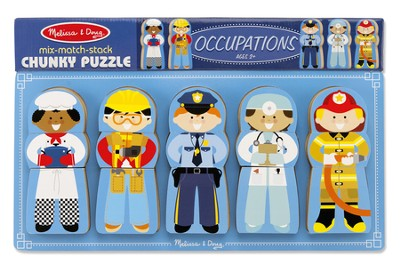 Occupations, Mix-Match-Stack Chunky Puzzle  -