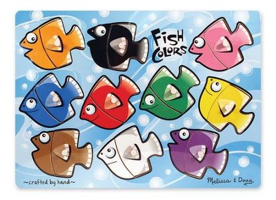 Fish Colors Mix and Match Peg Puzzle  -