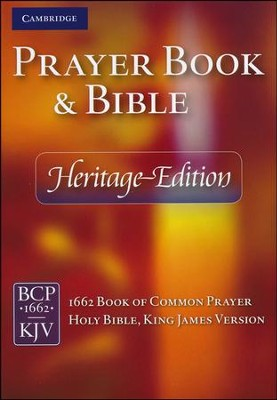 KJV Heritage Edition Bible and Prayer Book, hardcover, blue  -