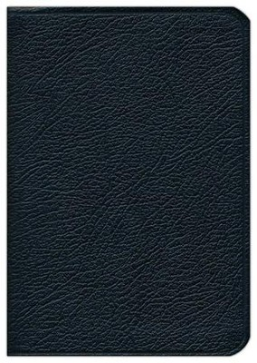 KJV Pocket Reference Bible--French Moroccan leather, black (indexed)  -