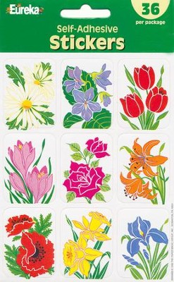 Scripture Press Primary Flower Stickers, Summer 2014   -