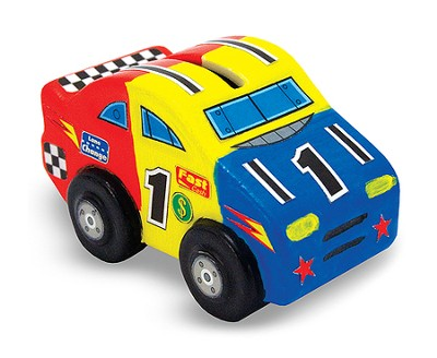 Decorate Your Own, Race Car Bank  -