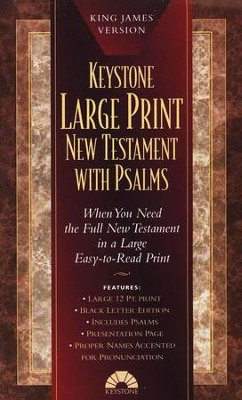 KJV Large-Print New Testament with Psalms, Imitation Leather, Black  -