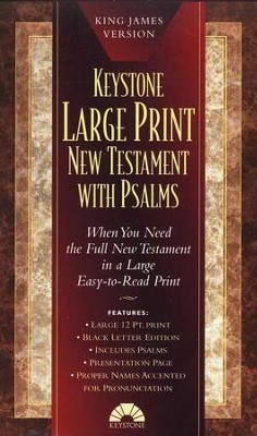 KJV Large-Print New Testament with Psalms, Imitation Leather, Burgundy  -