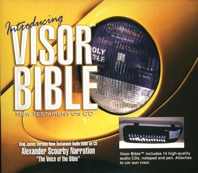 KJV New Testament of the Bible-audio on CD, Visor edition (with FREE notepad and pen)  -     Narrated By: Alexander Scourby
