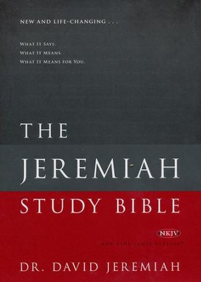 NKJV Jeremiah Study Bible, Hardcover   -     By: David Jeremiah