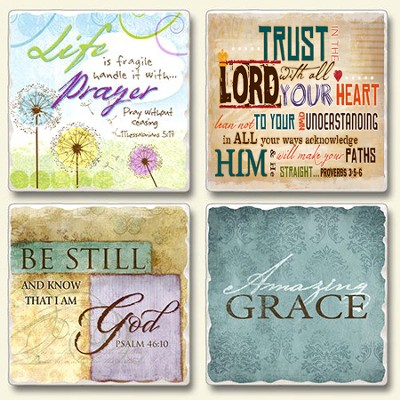 Saved by Grace, Tumbled Coasters Set   -