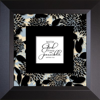 With God - Truth Squared Framed Art Series   -