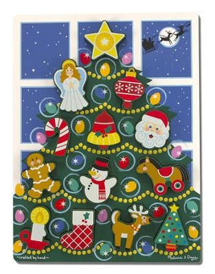Christmas Tree Chunky Puzzle, 13 pieces  -