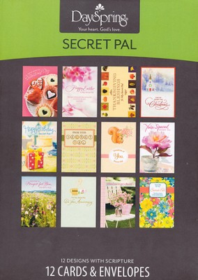 Secret Pal Guess Who? Cards, Box of 12  -