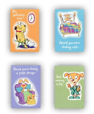 Get Well Cards For Kids, Box of 12  -